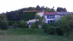 The house at La Verrerie viewed from the garden. A fantastic place for your self-catering holiday in the Puy de Dome area of the Auvergne.